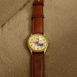 Vintage backward Goofy watch